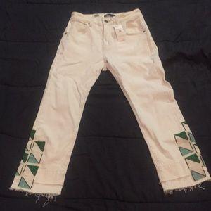 Levi slim crop jeans